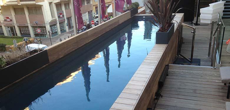 Piscine 10x2 pour nageurs