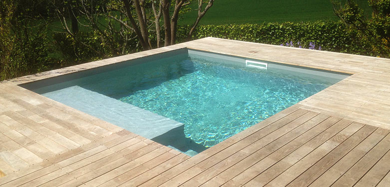 Piscine carrée 3x3