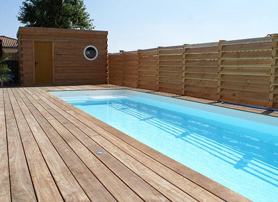 Installez un couloir de nage sur votre terrasse.
