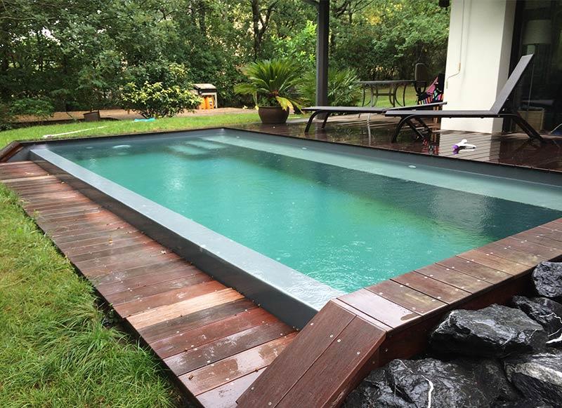 piscine bois débordement - piscine débordement sur longueur | ozeobois
