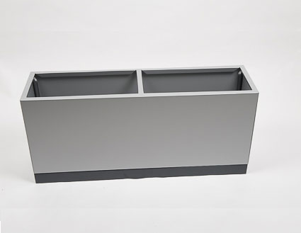 jardiniere aluminium rectangle gris