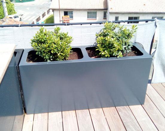 jardiniere toit terrasse gris anthracite