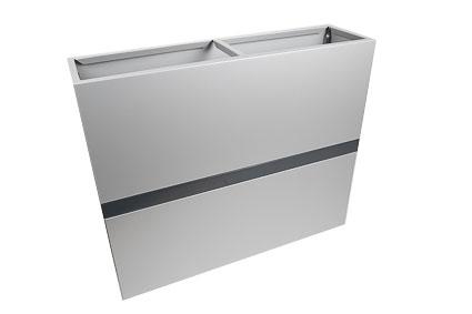 Jardinière bicolore aluminium gris