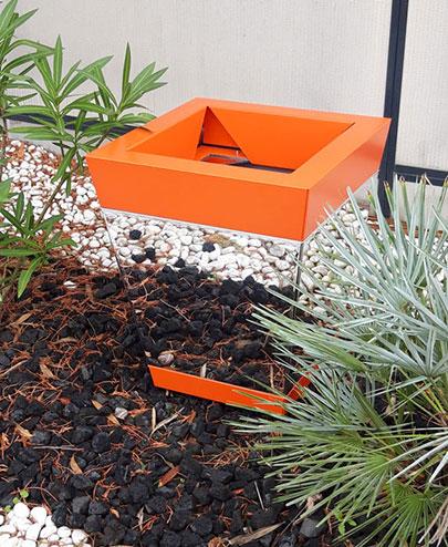 jardinière miroir moderne bicolore orange