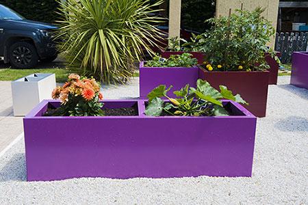 jardiniere pour potager violet