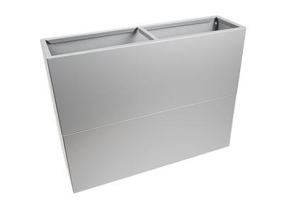 Jardinière aluminium uni gris