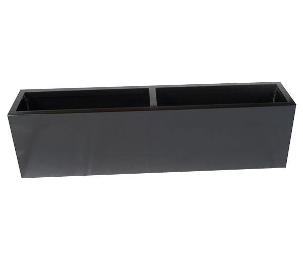 jardinière rectangle balcon noir