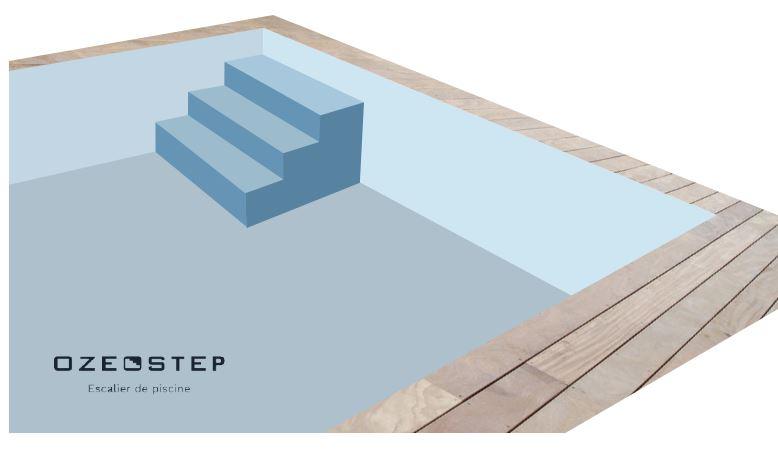 Escalier droit pour piscine